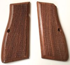 WWII GERMAN BROWNING 9MM HIGH POWER WOODEN REPLACEMENT PISTOL GRIPS