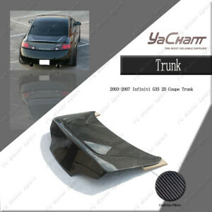 Carbon Fiber For 2003-2007 Infiniti G35 2D Coupe MI-GD-Style Rear Trunk Boot Lid