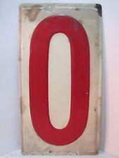 Original Gas Station Price # 0 Sign embossed large gas advertising metal zero