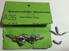 SCHWARZWALDER MINIATUREN A26 - INDIAN WOLF WARRIOR - 54mm WHITE METAL
