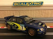 Scalextric Subaru Impreza WRC funciona 2003 negó & Mills No7 * en Perfecto En Caja * C2587