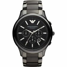 Emporio Armani Ceramica Black Chronograph Mens Ceramic Bracelet Watch AR1452