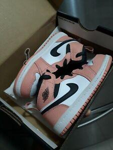Nike Air Jordan 1 Retro Mid Pink Quartz 2020 Size 8c Toddler