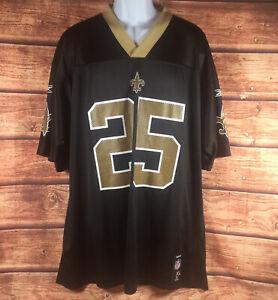 REEBOK Team Mens NFL Football New Orleans Saints Reggie Bush #25 Jersey XL NEW!