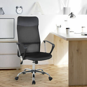 HOMCOM Executive Office Chair High Back Mesh Chair Seat Office Desk Chairs