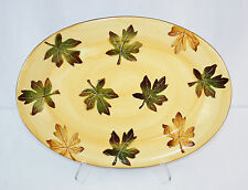 "Vintage Pottery Barn Harvest Platter 18"" Fall Leaves"