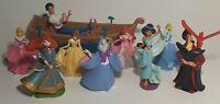 Disney Character Figure LOT Of 9 Disney Princess/Aladdin/Brave Toys