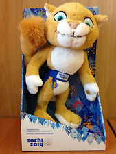 SOCHI 2014 mascot of the Winter Olympic Games Leopard (in a box), 28 cm