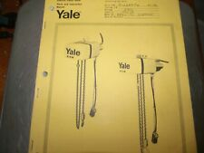 Yale Parts Manual and Instruction manaul    Series D   Hoist Crane   chain