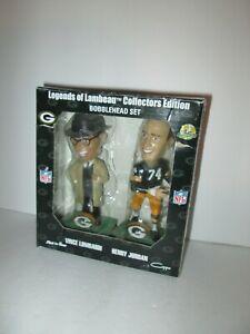 NFL Green Bay Packers Vince Lombardi & Henry Jordan Bobblehead Set, New