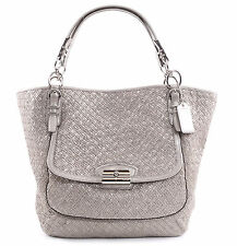 Coach 19746 Limited Ed Kristin Pinnacle Woven Leather Tote Handbag  MSRP $1200