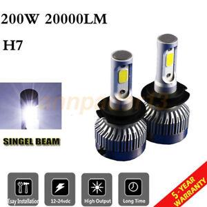 H7 Car LED Headlight Bulbs COB Conversion Kit 200W 20000lm 6500K Plug Play