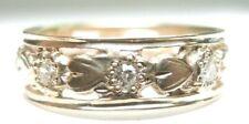 Gold Ring Sz 7.5 Uk-O1/2 Egl U Antique Art Deco Vintage Wedding Band 14K Yellow