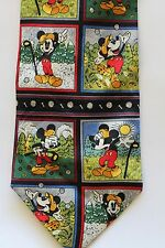 "Mickey Mouse Disney Golf Tie Silk Blue Multi Color 57"" Long 4"" Wide FREE SHIP"