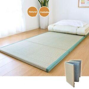 Japanese Traditional Tatami Mattress Mat Foldable Floor Straw Mat Yoga Sleep