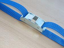 15m Spanngurt extra lang Doppelklemmschloss Zurrgurt Camping 25mm blau
