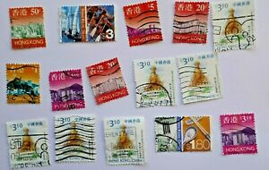 HONG KONG  some modern stamps,  off-paper,  used+mint  some duplicates
