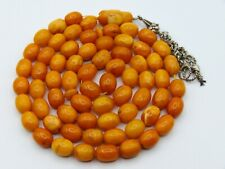 Old, Real, Antique, Huge, Natural Amber Necklace / Rosary / Prayer Beads / 50 G
