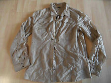 SELECTION S.OLIVER chice Bluse hellbraun m. Seide Gr. 40 TOP ZC1115
