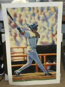 """Ken Griffey Jr Seattle Mariners Signed Limited Edition 24x37"""" Color Poster"""