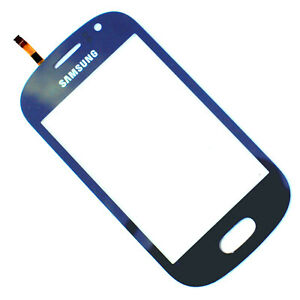 100% Genuine Samsung Galaxy Fame S6810 front digitizer touch screen Blue glass