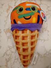 WAFFLE CONE ICE CREAM MANGO W/ COLORFUL SPRINKLES 8 INCHES SMILEY FACE DIET