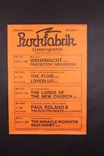 ORIGINAL 1989 ROCKFABRIK GERMANY PUNK GRUNG THRASH GARAGE METAL CONCERT POSTER