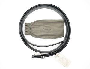 NWT BRIONI Leather Luxury Reversible BELT BLUE + BLACK Size 95 cm Us 48 CI1