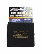 Vehicle Auto Car Truck Insurance Registration Document Case Holder Folder Wallet