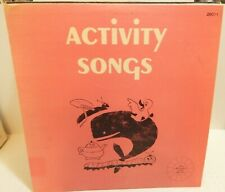 ACTIVITY SONGS First Adventures with Records Activity and Funny Songs 1967 LP