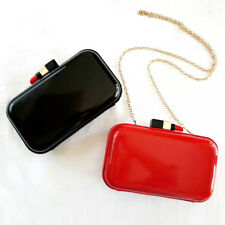High quality famous brand design lipstick clasp acrylic day/evening clutch w/cha
