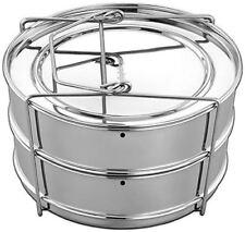 Instant Pot Stackable 2 Tier Stainless Steel Pressure Cooker Steamer Insert Pans