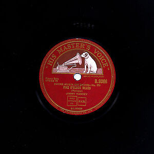 SUPERB BOOGIE WOOGIE JIMMY YANCEY 78 5 O'CLOCK BLUES /YANCEY STOMP  HMV B9366 E+