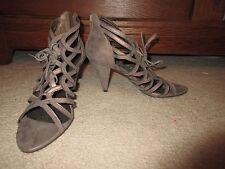 "HEELS - Gabriella Rocha - Taupe Copper - Strappy - 3.5"" heel - Size 9.5M"