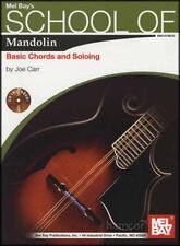 School of Mandolin Basic Chords and Soloing TAB Music Book & CD