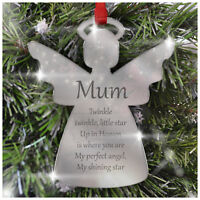 Remembrance Christmas Tree Decoration PERSONALISED In Memory Angel Tree Ornament