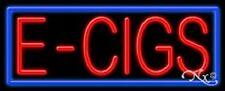 "NEW ""E - CIGS"" 32x13x3 BORDER REAL NEON SIGN w/CUSTOM OPTIONS 11387"