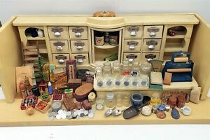 LMAS ~ Vintage German Grocery Store Doll House Spice Drawers Display Cubbies