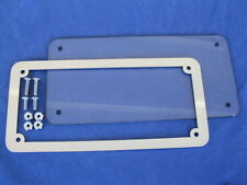 Motorcycle number plate frame surround & lens, SOUTH AUSTRALIA Polished or BLACK