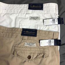 Two Pairs of NWT Polo Ralph Lauren Shorts KHAKI WHITE Cargo Short Size 50B LOT