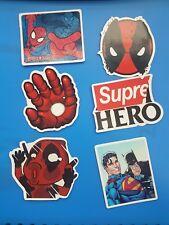 Super Hero Sticker/Decal Fun Caricature (6 stickers)