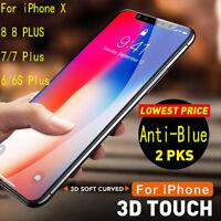 2X3D Full Cover für iPhone X 8 7 6 Plus Schutzfolie aus gehärtetem Glas