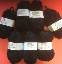 New listing Sanzon Item #9543 Color 120 Black,1 lot of 7 Balls Bulky weight.