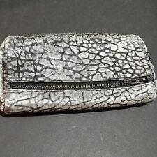Alexander Wang Gray Fumo Wallet Large Leather Zip Around
