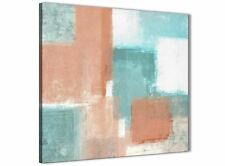 Coral Turquoise Kitchen Canvas Wall Art Accessories - Abstract 1s366s - 49cm