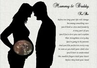 MUMMY & DADDY TO BE GIFT- Personalised  Photo Gift, new parents, scan display