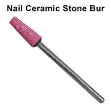 Nail Manicure Pedicure Stone Ceramic Bit Drill Shank 3/32 Bur Cuticle Flat Cone