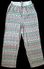 SNOWFLAKE REINDEER PINE CHRISTMAS PAJAMAS WOMENS WINTER LOUNGE STRIPED PANTS M