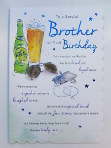 To A Special Brother On your Birthday Card
