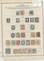 Austria Early Stamps on 2 Pages Ref: R6884